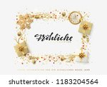german text frohliche... | Shutterstock .eps vector #1183204564