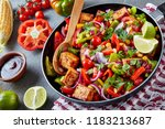 delicious texan dish  chopped... | Shutterstock . vector #1183213687