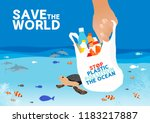 vector save the world and stop...   Shutterstock .eps vector #1183217887