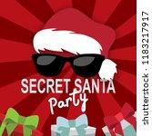 secret santa invitation... | Shutterstock .eps vector #1183217917
