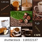 coffee collage   menu | Shutterstock . vector #118322137