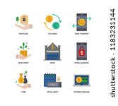 banking and finance icons | Shutterstock .eps vector #1183231144