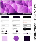 dark purple vector web ui kit...