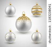 christmas decorative silver and ...   Shutterstock .eps vector #1183238041