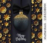 christmas ball on snowflake...   Shutterstock .eps vector #1183238044