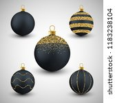 christmas decorative black and...   Shutterstock .eps vector #1183238104