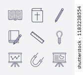 outline 9 school icon set.... | Shutterstock .eps vector #1183238554