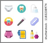 hygiene icon. brush and panties ... | Shutterstock .eps vector #1183238974
