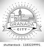 minimal granada city linear... | Shutterstock .eps vector #1183239991