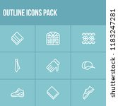 clothing icon set and towel...
