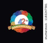 forty two anniversary logo... | Shutterstock .eps vector #1183247581