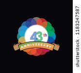 forty three anniversary logo... | Shutterstock .eps vector #1183247587