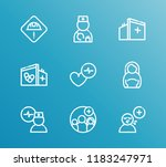 aid family icon set and... | Shutterstock .eps vector #1183247971