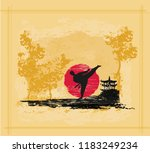 creative abstract illustration... | Shutterstock .eps vector #1183249234