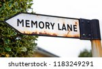 sign post to memory lane  ... | Shutterstock . vector #1183249291