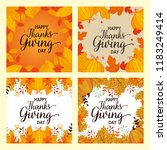 happy thanks giving cards with... | Shutterstock .eps vector #1183249414