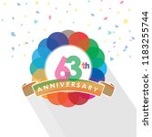 sixty three anniversary logo... | Shutterstock .eps vector #1183255744
