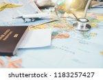 doctor's medical stethoscope... | Shutterstock . vector #1183257427
