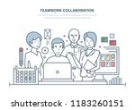 teamwork collaboration.... | Shutterstock .eps vector #1183260151