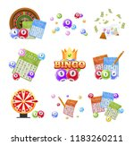 set of lottery tickets  bingo ... | Shutterstock .eps vector #1183260211