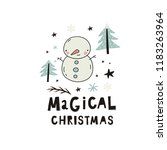 merry christmas and happy new... | Shutterstock .eps vector #1183263964