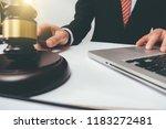 deskjudge gavel with justice... | Shutterstock . vector #1183272481