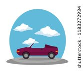 convertible car vehicle on the... | Shutterstock .eps vector #1183272934