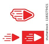 creative live streaming icon....   Shutterstock .eps vector #1183275421