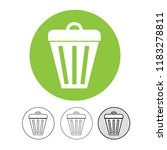 trash can icon | Shutterstock .eps vector #1183278811