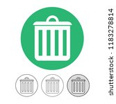 trash can icon | Shutterstock .eps vector #1183278814