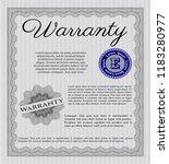 grey vintage warranty... | Shutterstock .eps vector #1183280977