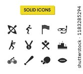 exercise icons set with bit ...