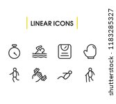 activities icons set with...