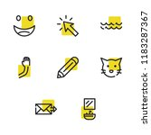 send mail icon with pencil ... | Shutterstock .eps vector #1183287367