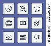 economy icons set with calendar ...