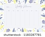 cute vector weekly planner... | Shutterstock .eps vector #1183287781