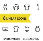 accessories icons set with bag  ...
