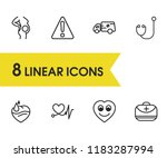 medical icons set with safety... | Shutterstock .eps vector #1183287994
