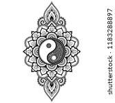circular pattern in form of... | Shutterstock .eps vector #1183288897