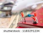 miniature figures of paramedic ... | Shutterstock . vector #1183291234