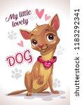 my little lovely dog. cute... | Shutterstock .eps vector #1183292341
