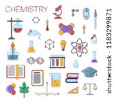 set of scientific chemistry... | Shutterstock .eps vector #1183299871