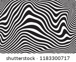 black and white wave stripe... | Shutterstock .eps vector #1183300717