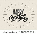 happy birthday hand lettering... | Shutterstock .eps vector #1183305511