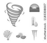 different weather monochrome... | Shutterstock .eps vector #1183308007