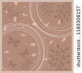 beautiful nature scarf pattern... | Shutterstock .eps vector #1183308157