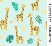 childish seamless pattern with... | Shutterstock . vector #1183310071