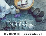 set for spa treatments in 2019...   Shutterstock . vector #1183322794