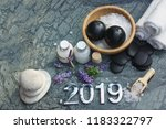 set for spa treatments in 2019...   Shutterstock . vector #1183322797