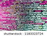 binary digits code editing.... | Shutterstock . vector #1183323724